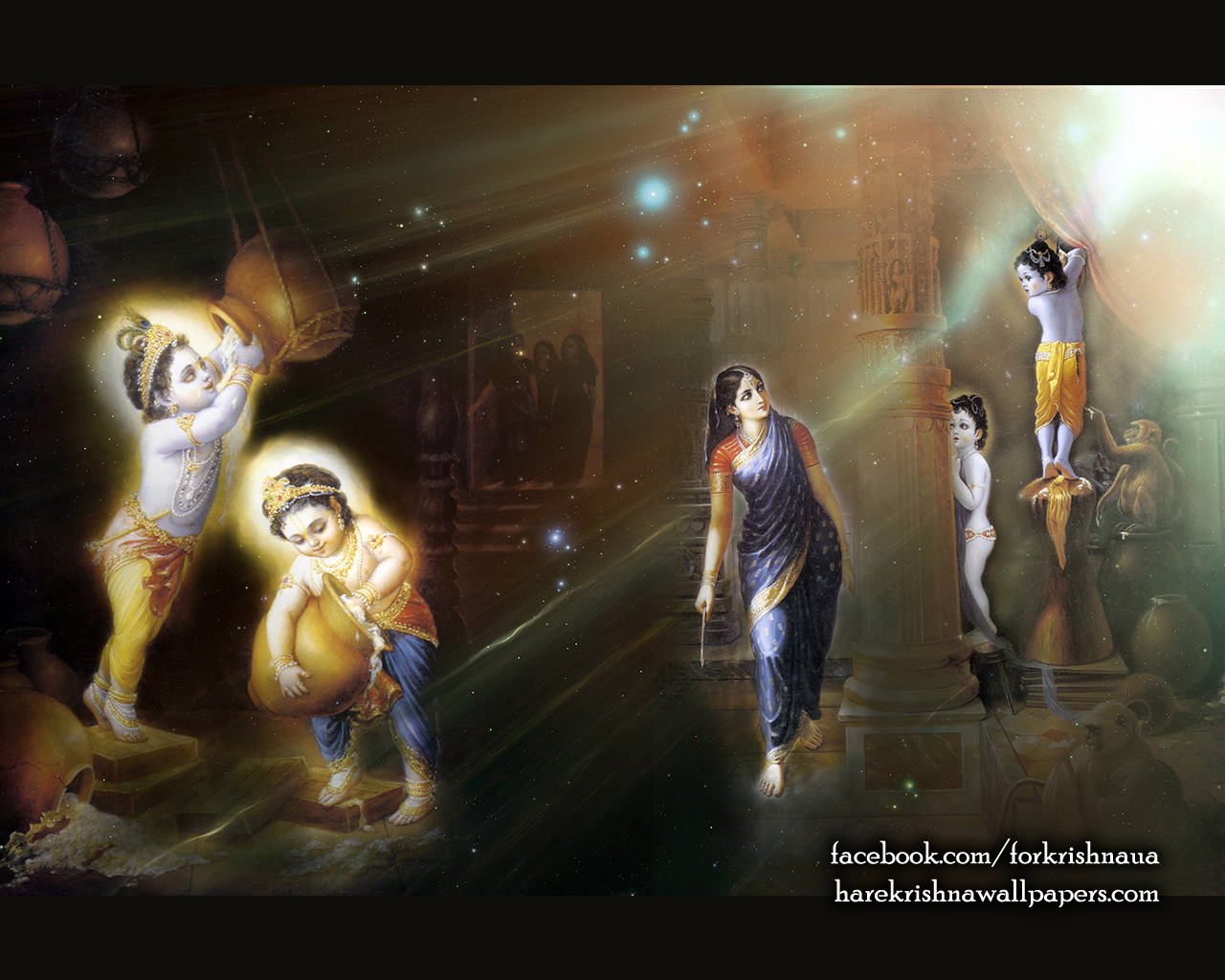 Krishna Balaram Wallpaper (004) Size 1280x1024 Download