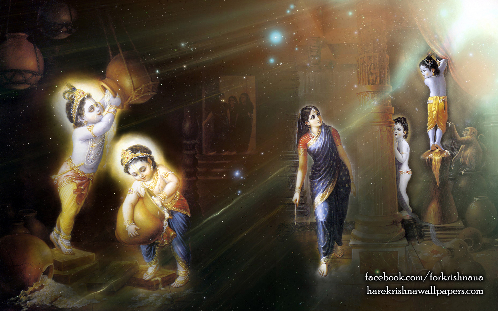 Krishna Balaram Wallpaper (004) Size 1680x1050 Download