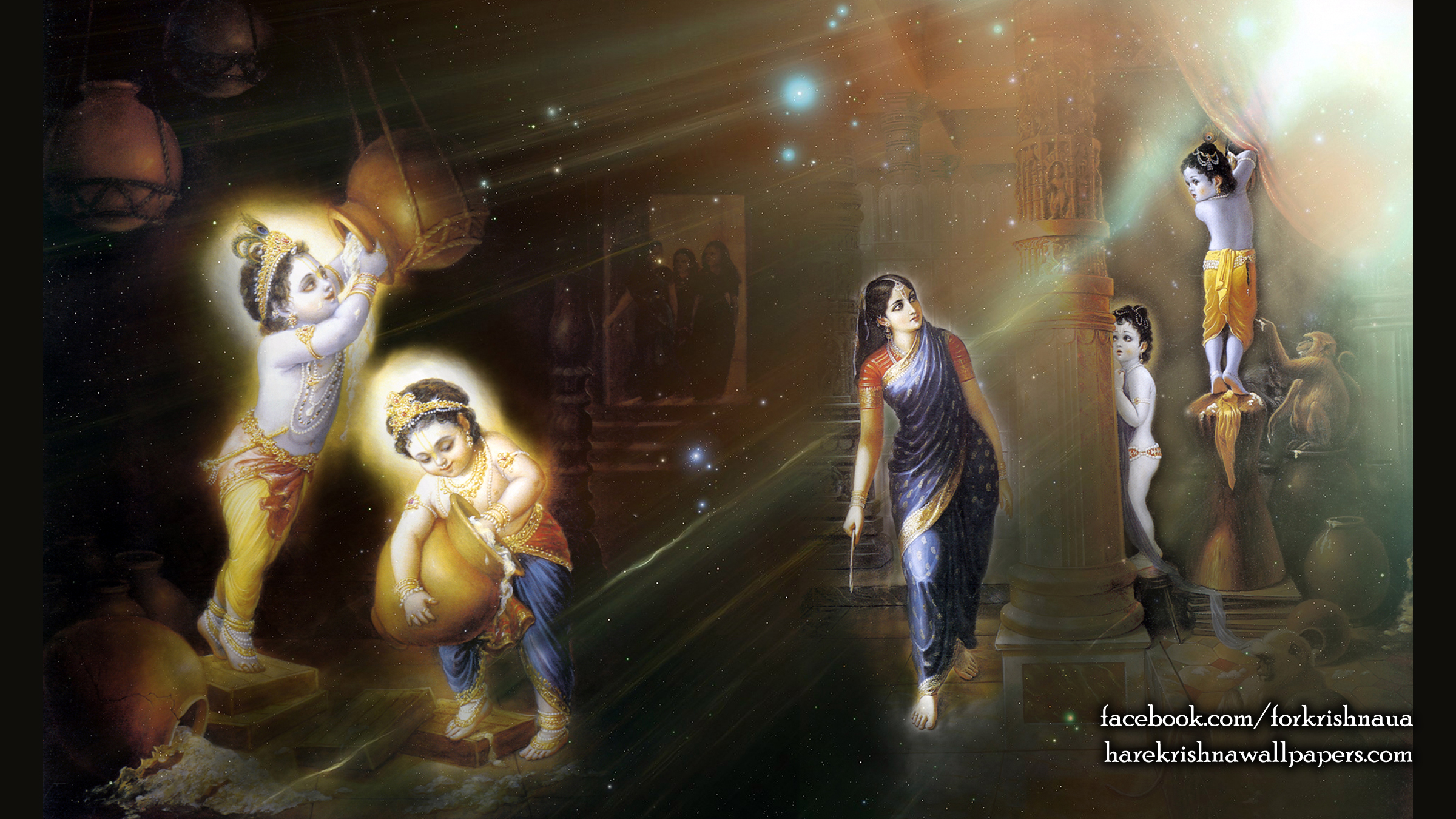 Krishna Balaram Wallpaper (004) Size 2400x1350 Download