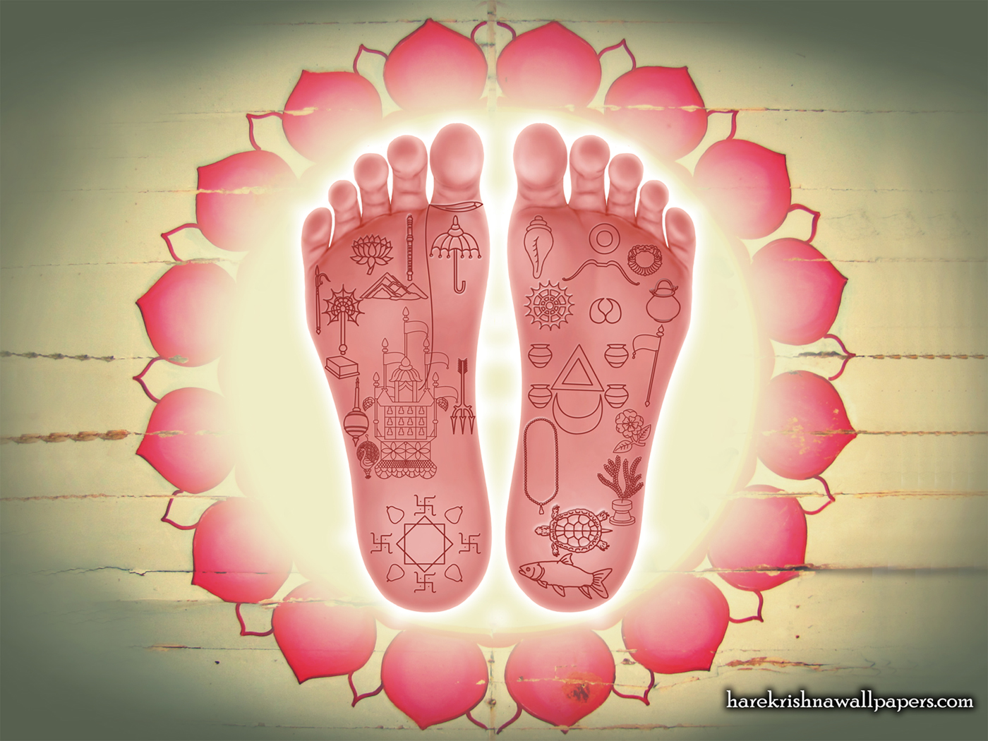 Sri Chaitanya Lotus Feet Wallpaper (001) Size 1400x1050 Download