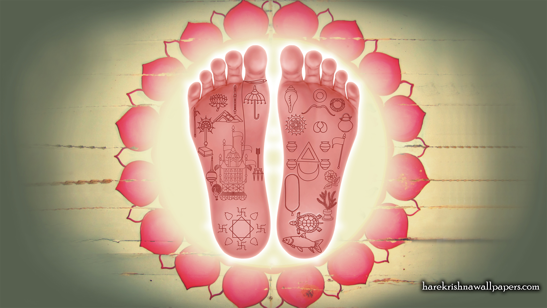 Sri Chaitanya Lotus Feet Wallpaper (001) Size 1920x1080 Download