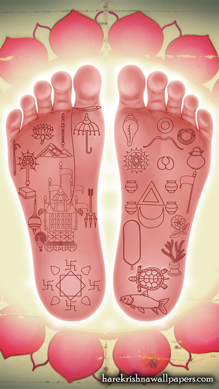Sri Chaitanya Lotus Feet Wallpaper (001) Size 450x800 Download