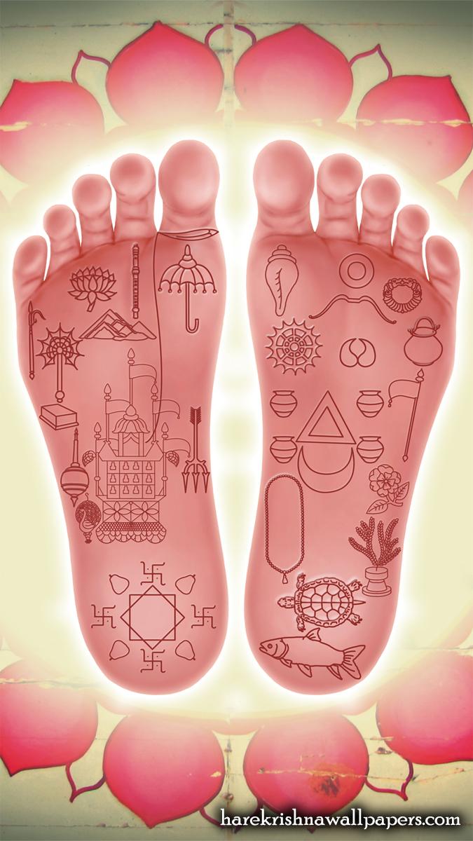 Sri Chaitanya Lotus Feet Wallpaper (001) Size 675x1200 Download