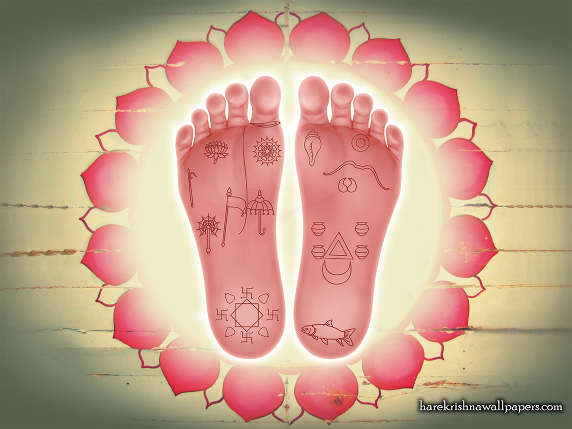 Sri Krishna Lotus Feet Wallpaper (001) Size 1152x864 Download