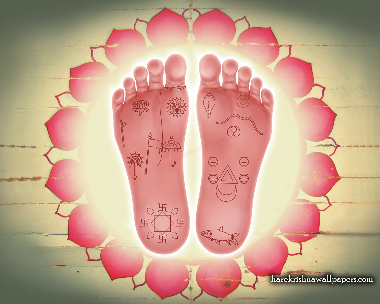Sri Krishna Lotus Feet Wallpaper (001) Size 1280x1024 Download