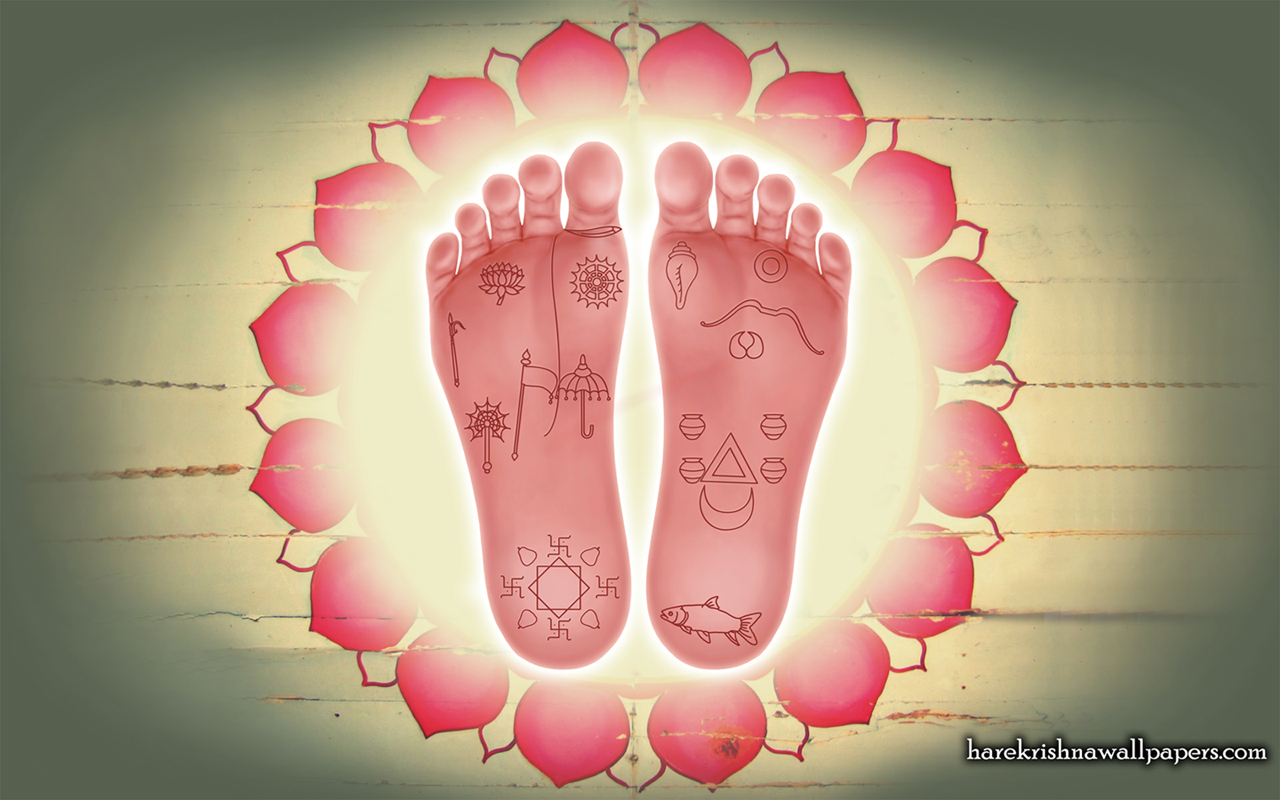 Sri Krishna Lotus Feet Wallpaper (001) Size 1280x800 Download