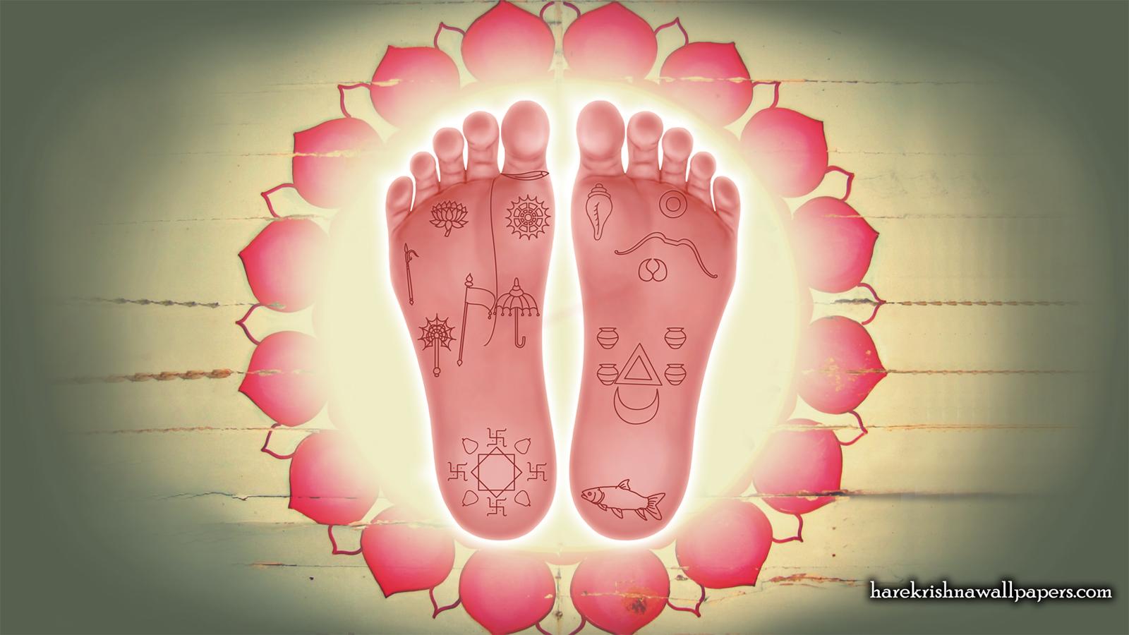Sri Krishna Lotus Feet Wallpaper (001) Size 1600x900 Download