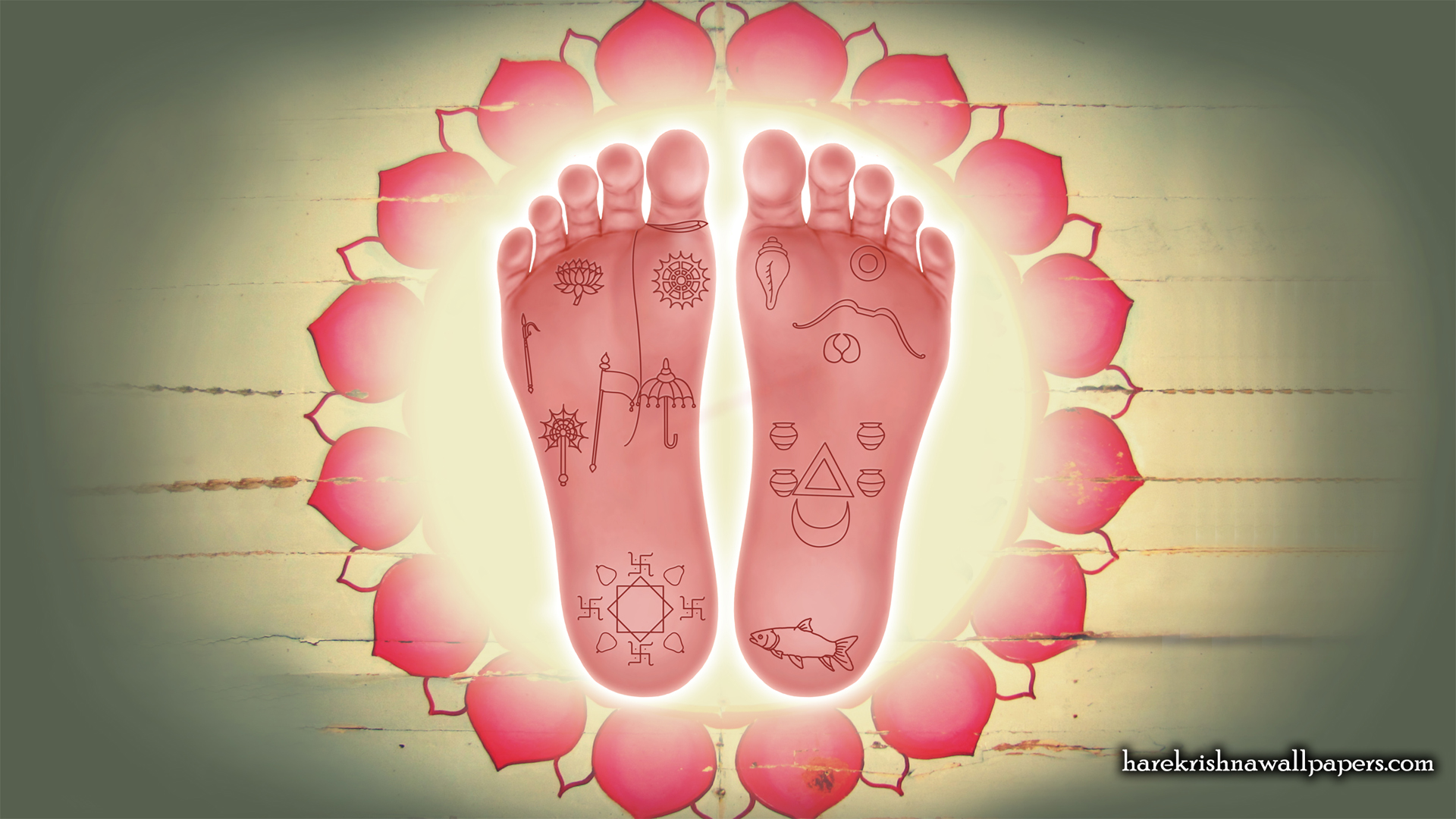 Sri Krishna Lotus Feet Wallpaper (001) Size 1920x1080 Download