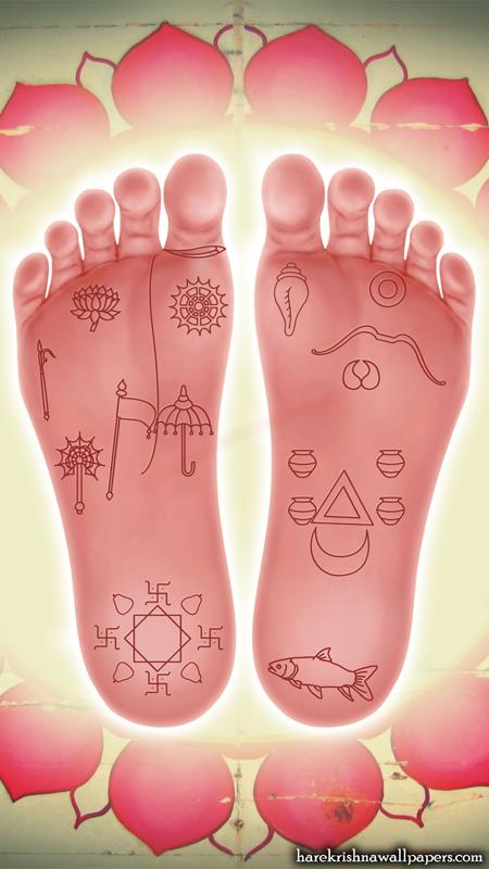 Sri Krishna Lotus Feet Wallpaper (001) Size 450x800 Download
