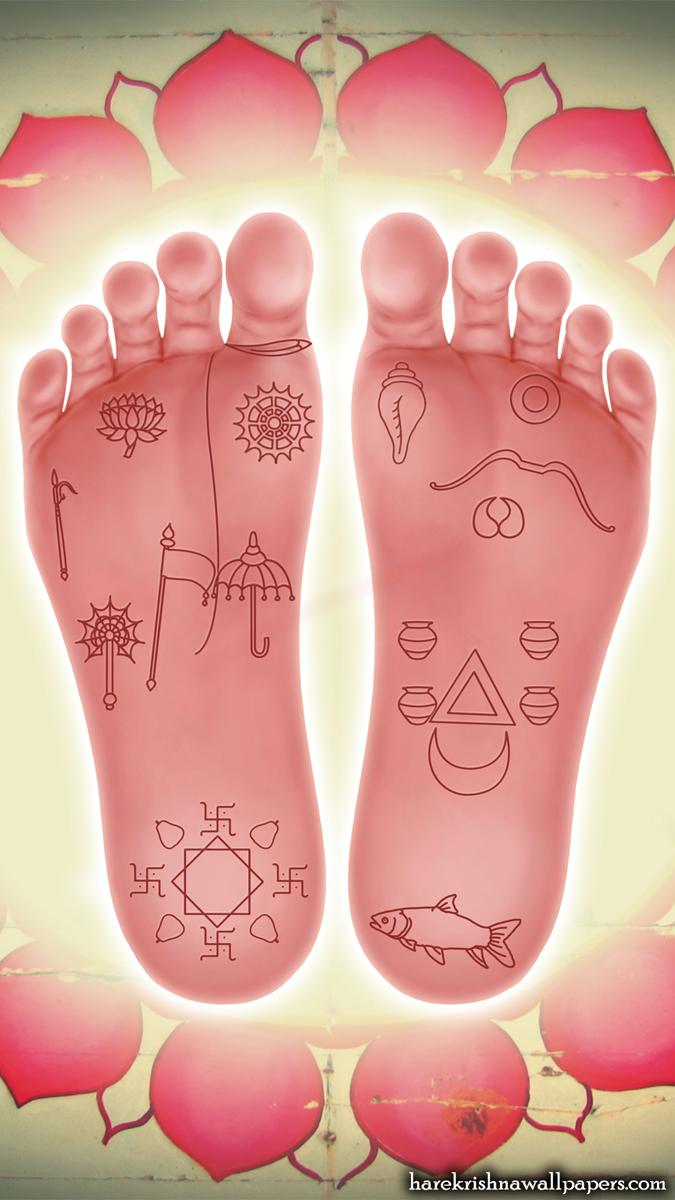 Sri Krishna Lotus Feet Wallpaper (001) Size 675x1200 Download
