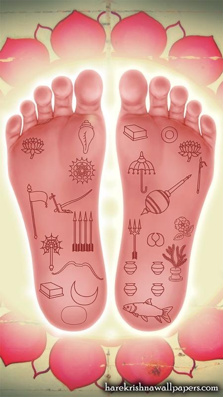 Sri Nityananda Lotus Feet Wallpaper (001) Size 450x800 Download