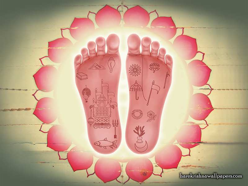 Srimati Radharani Lotus Feet Wallpaper (001)
