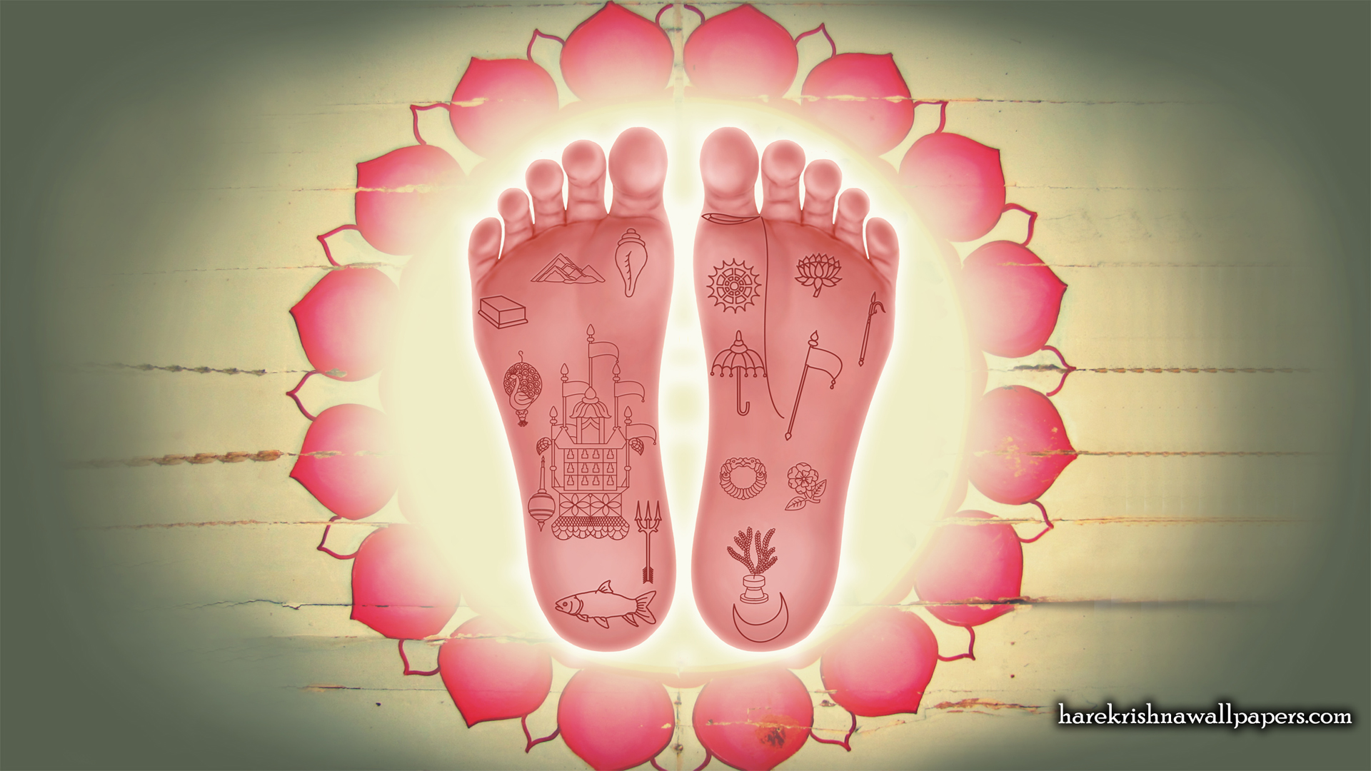 Srimati Radharani Lotus Feet Wallpaper (001) Size 1920x1080 Download