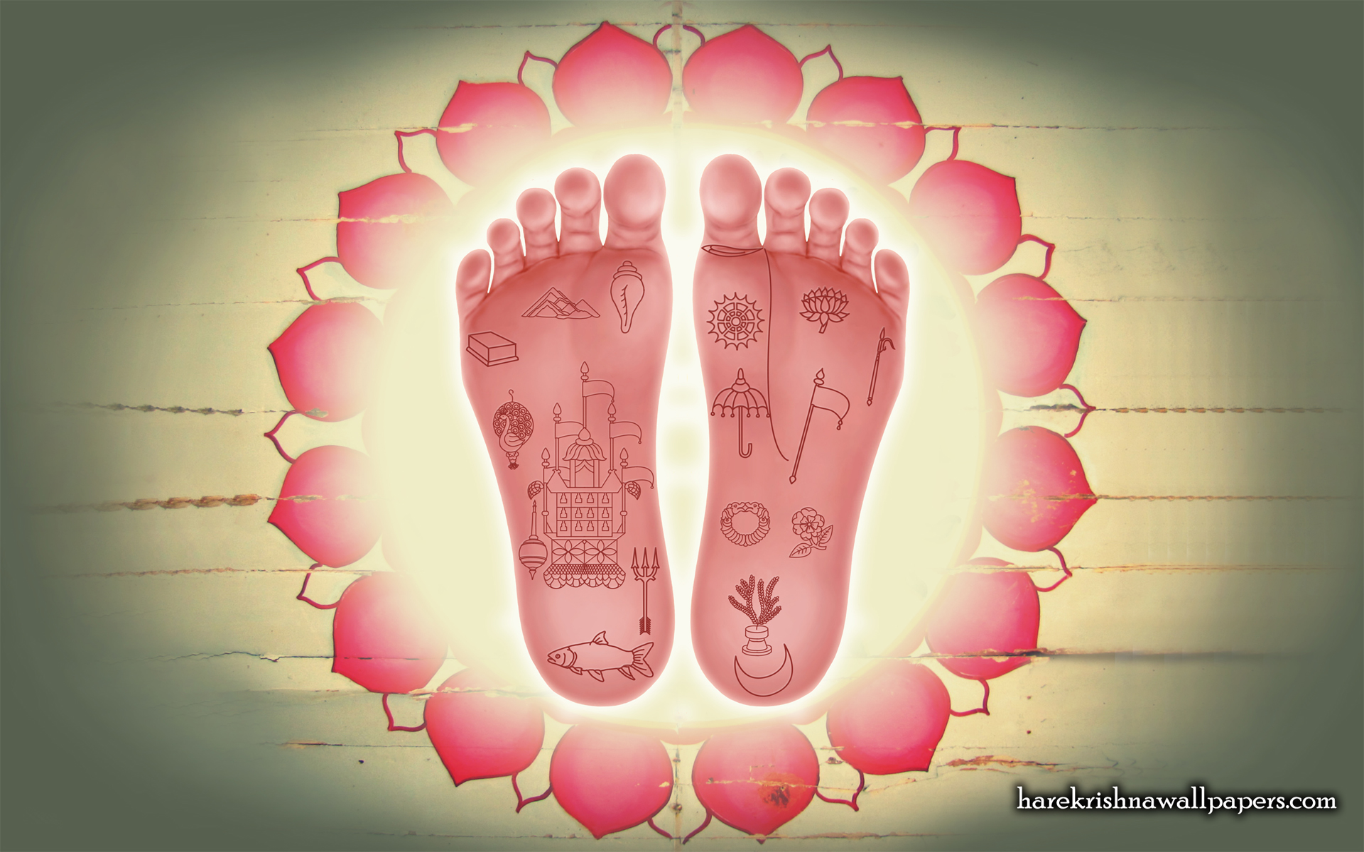 Srimati Radharani Lotus Feet Wallpaper (001) Size 1920x1200 Download
