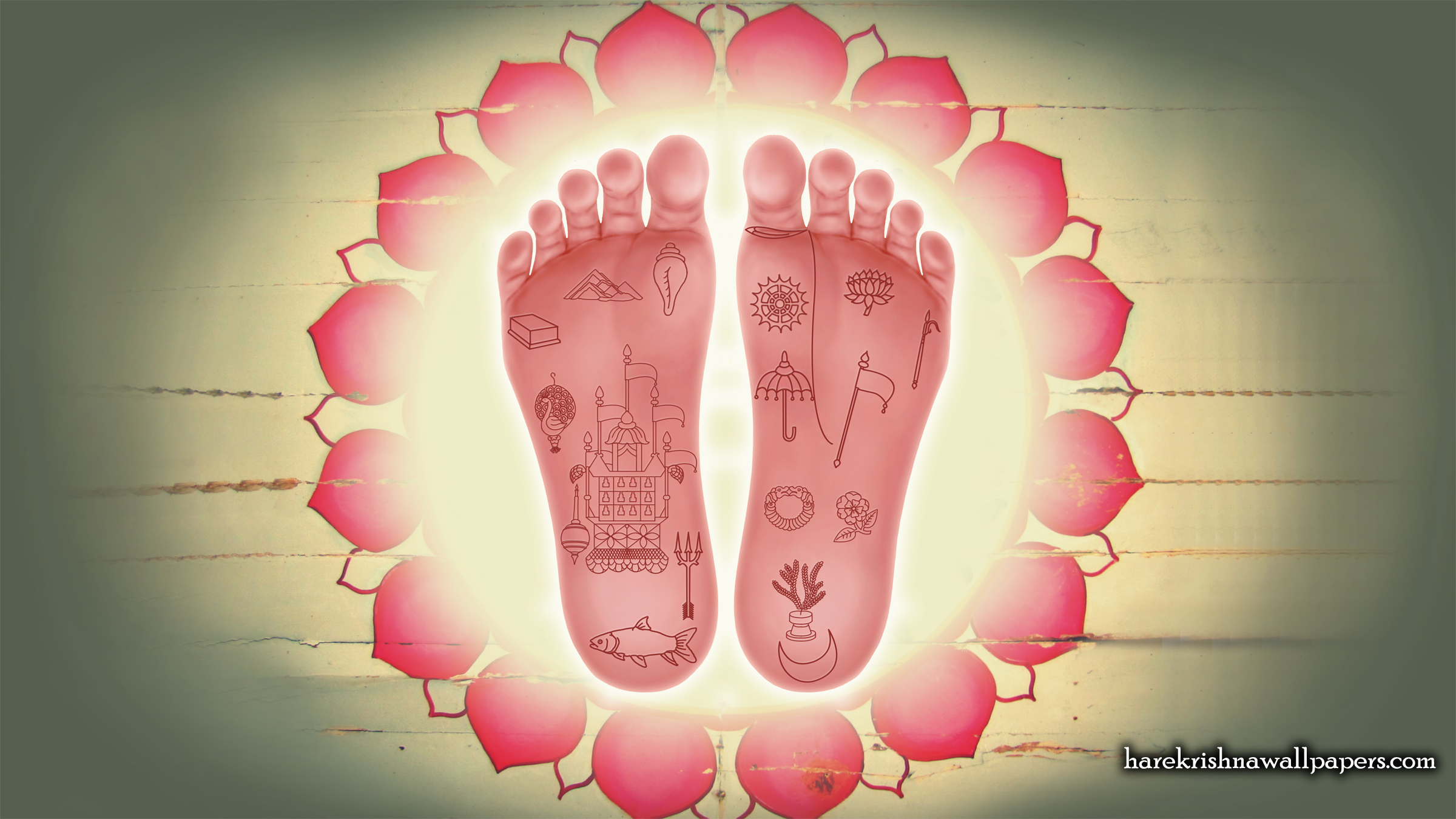 Srimati Radharani Lotus Feet Wallpaper (001) Size 2400x1350 Download