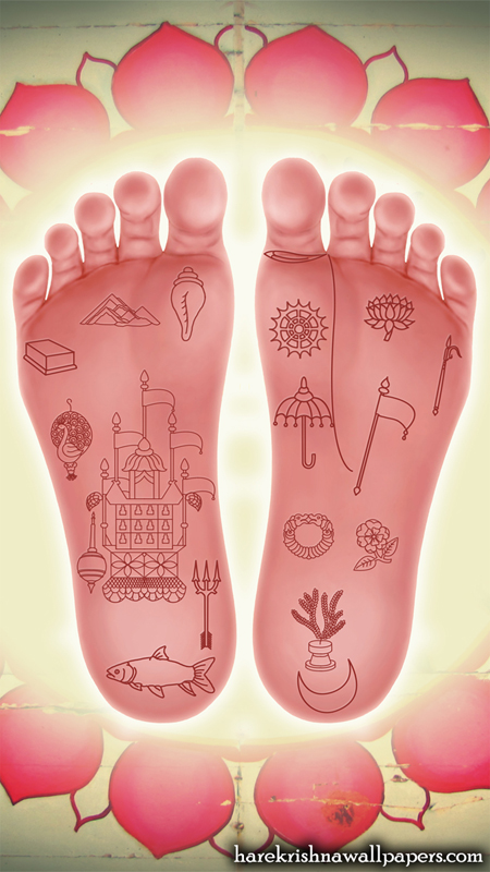 Srimati Radharani Lotus Feet Wallpaper (001) Size 450x800 Download