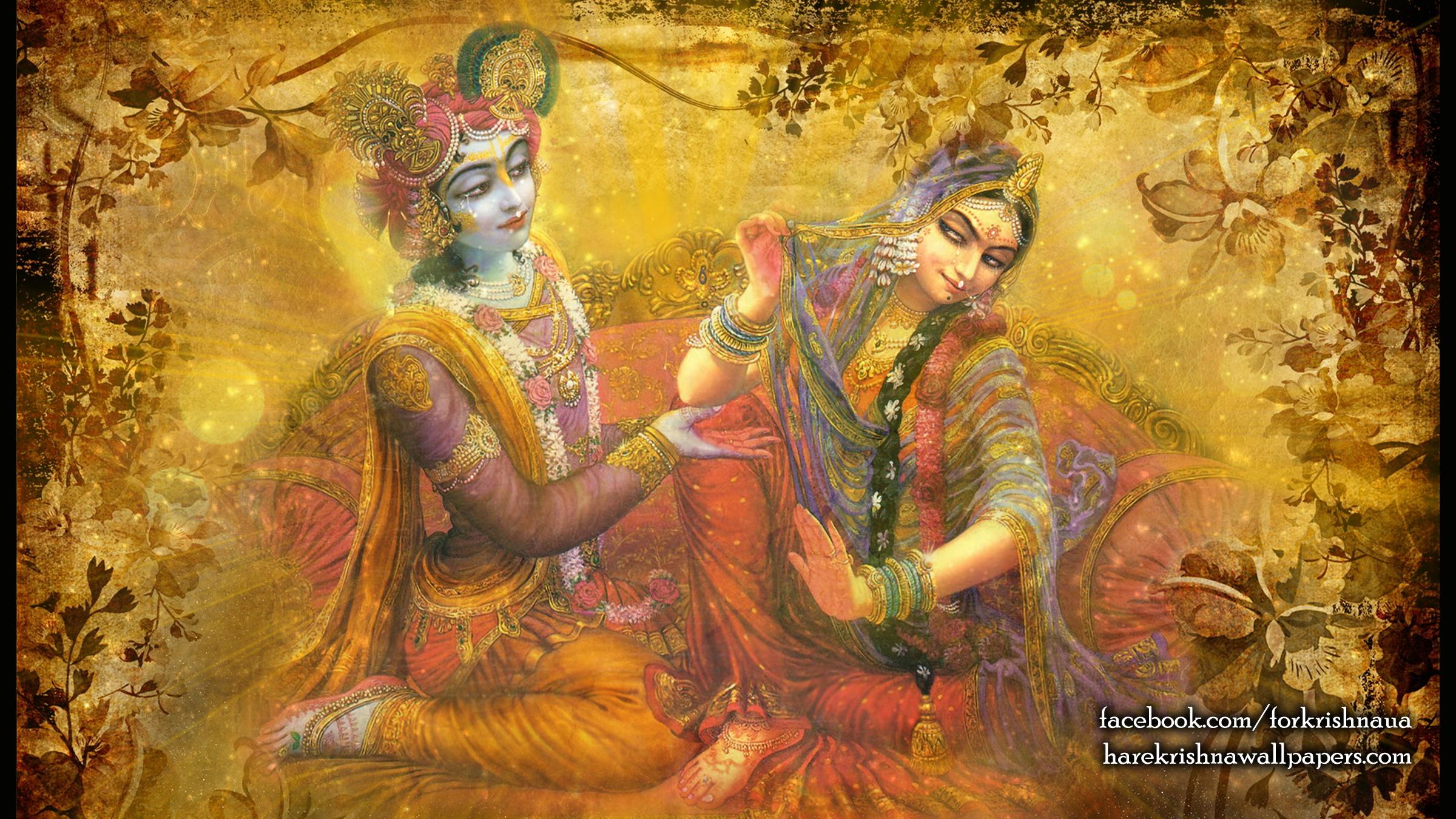 Radha Krishna Wallpaper (002) Size 2400x1350 Download