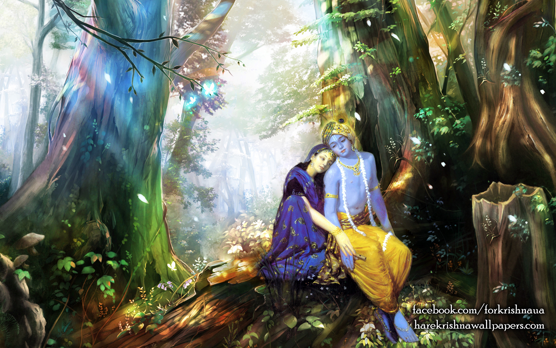 Radha Krishna Wallpaper (004) Size 1920x1200 Download