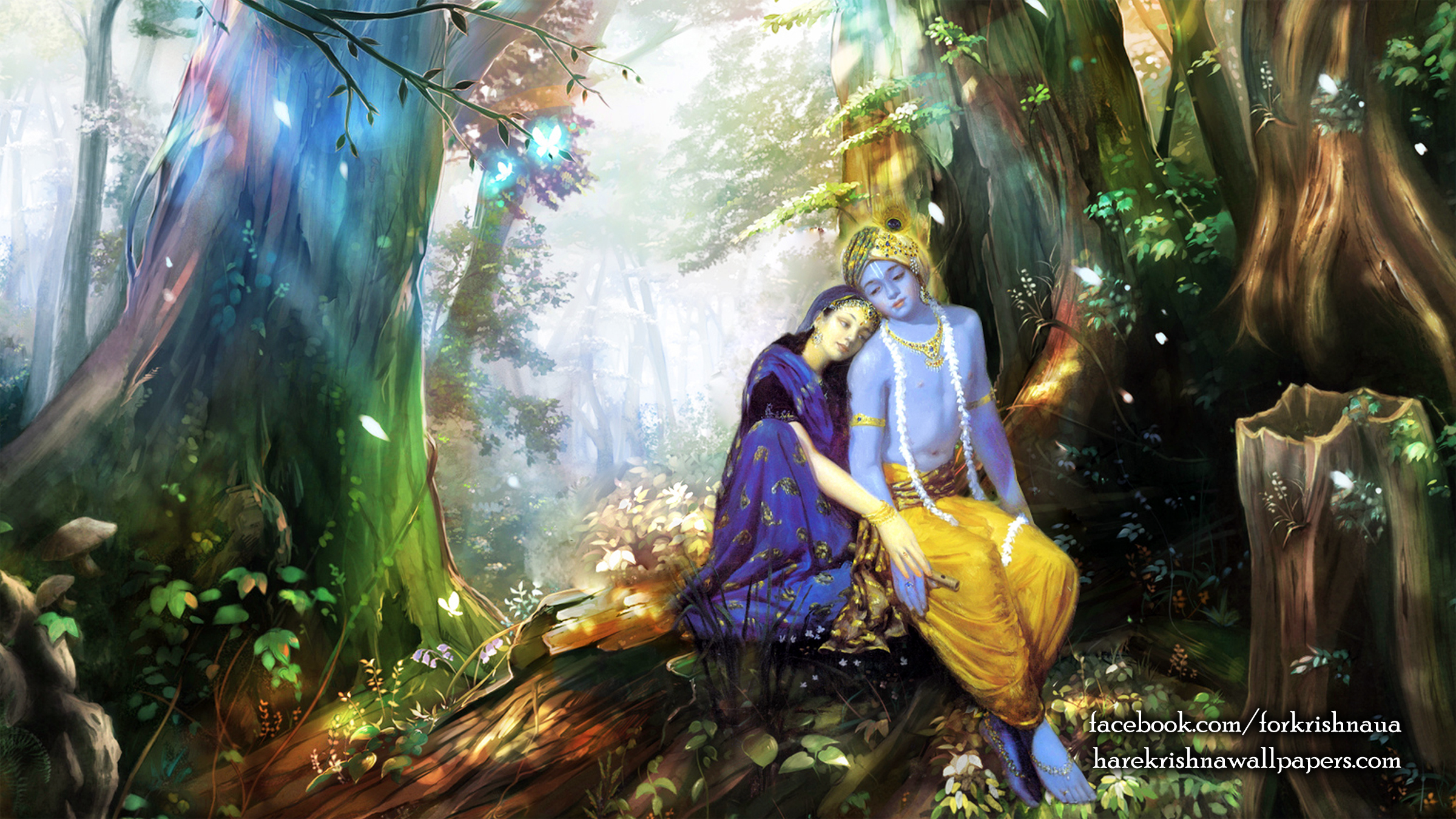 Radha Krishna Wallpaper (004) Size 2400x1350 Download