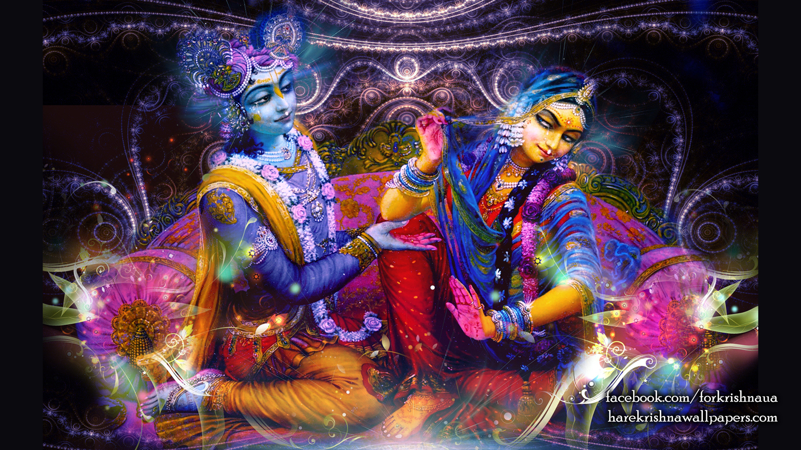 Radha Krishna Wallpaper (007) Size 1600x900 Download