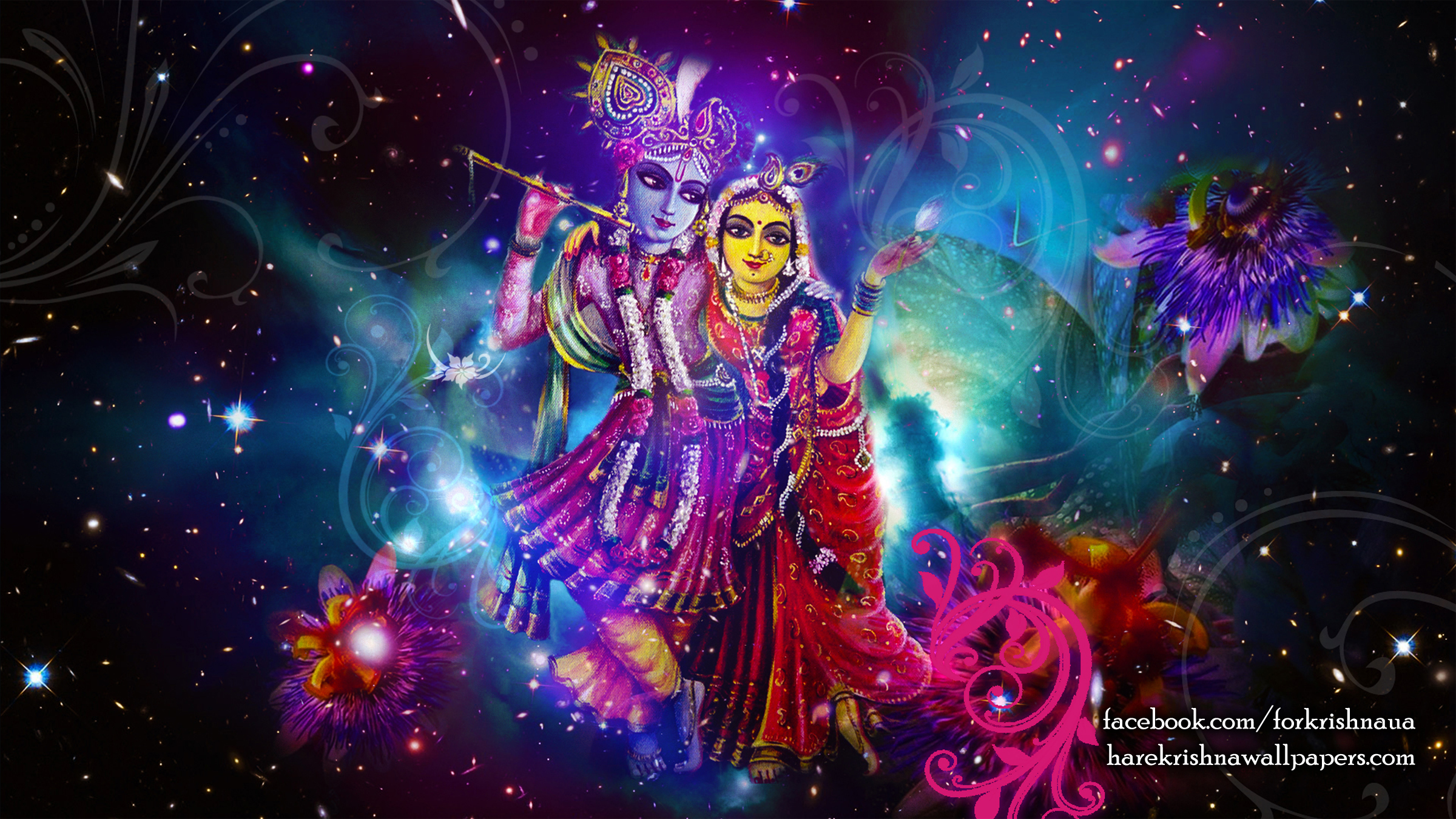 Radha Krishna Wallpaper (010) Size 2400x1350 Download