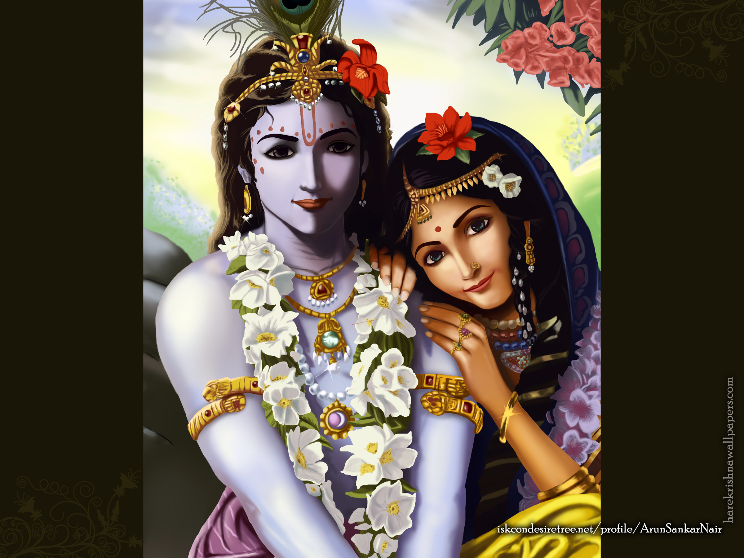 Radha Krishna Wallpaper (016) Size 2400x1800 Download