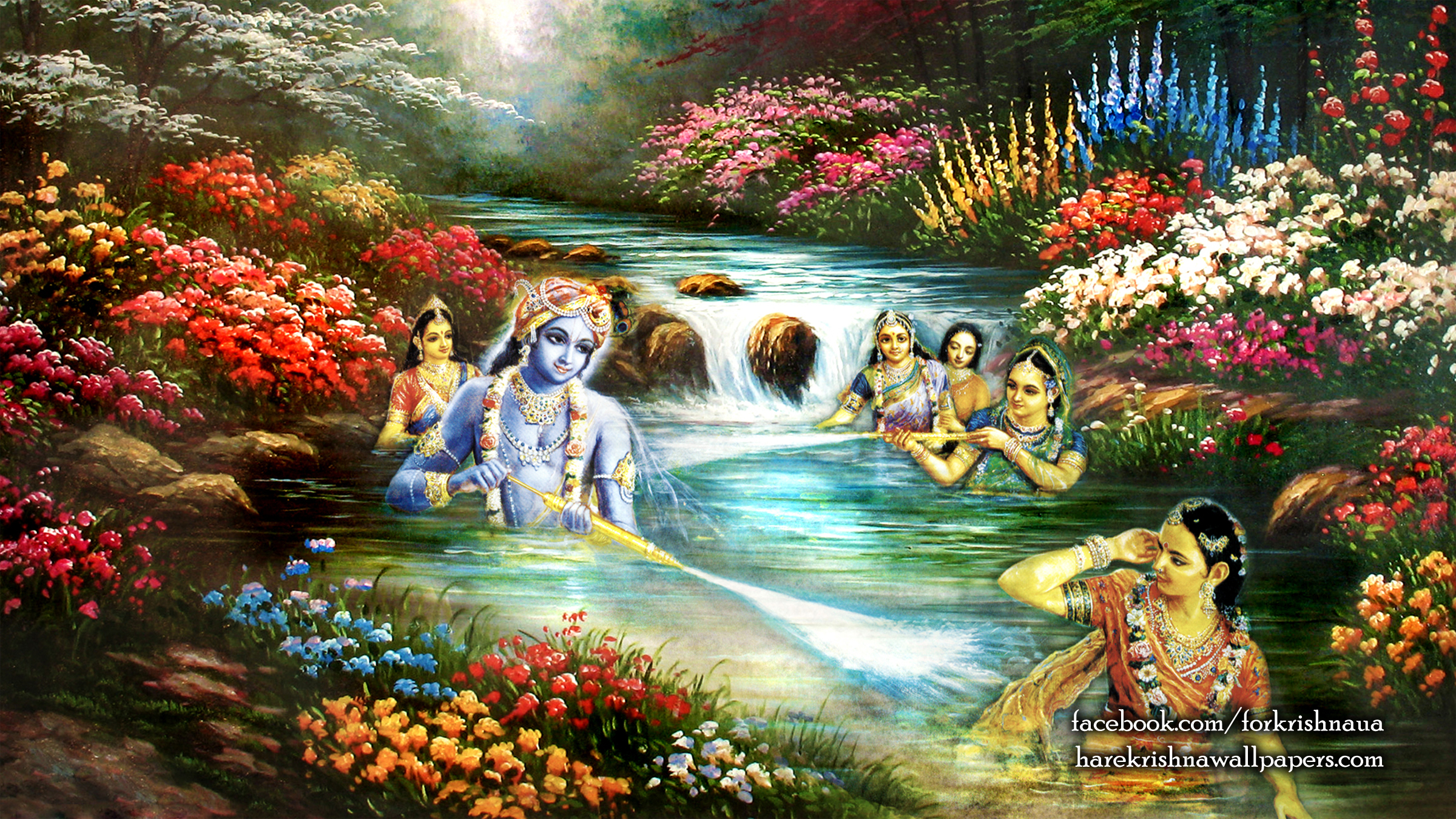 Radha Krishna Wallpaper (020) Size 2400x1350 Download