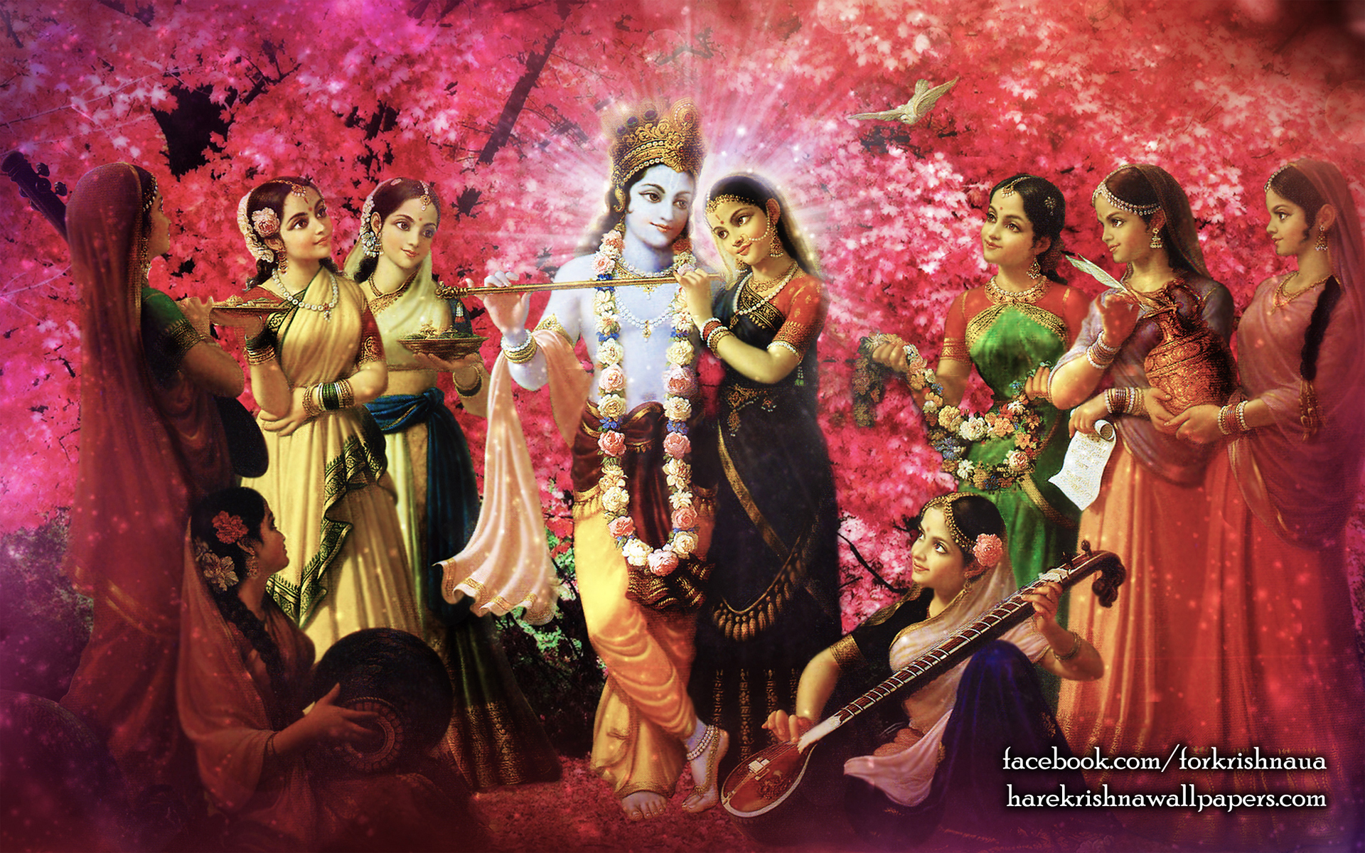 Radha Krishna Wallpaper (021) Size 1920x1200 Download