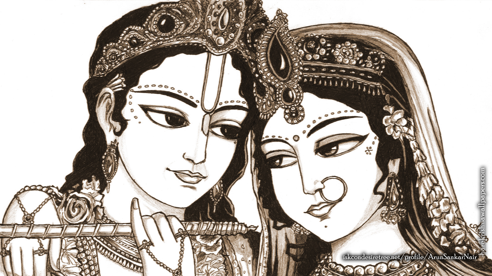 Radha Krishna Wallpaper (022) Size 1600x900 Download