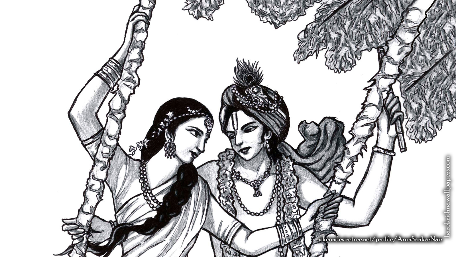 Radha Krishna Wallpaper (023) Size 1600x900 Download