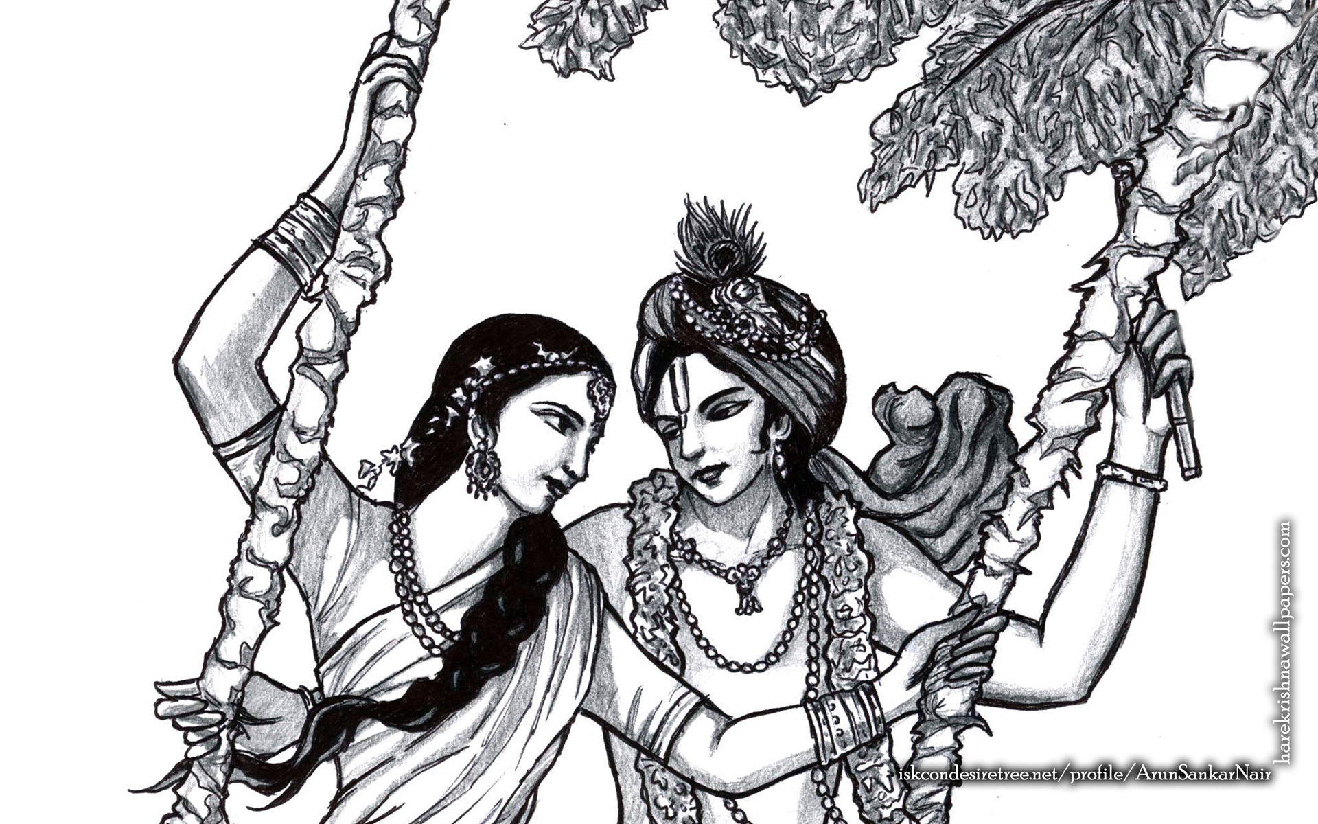 Radha Krishna Wallpaper (023) Size 1920x1200 Download