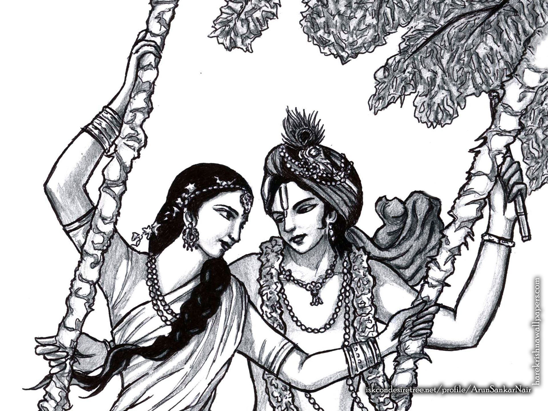 Radha Krishna Wallpaper (023) Size 1920x1440 Download