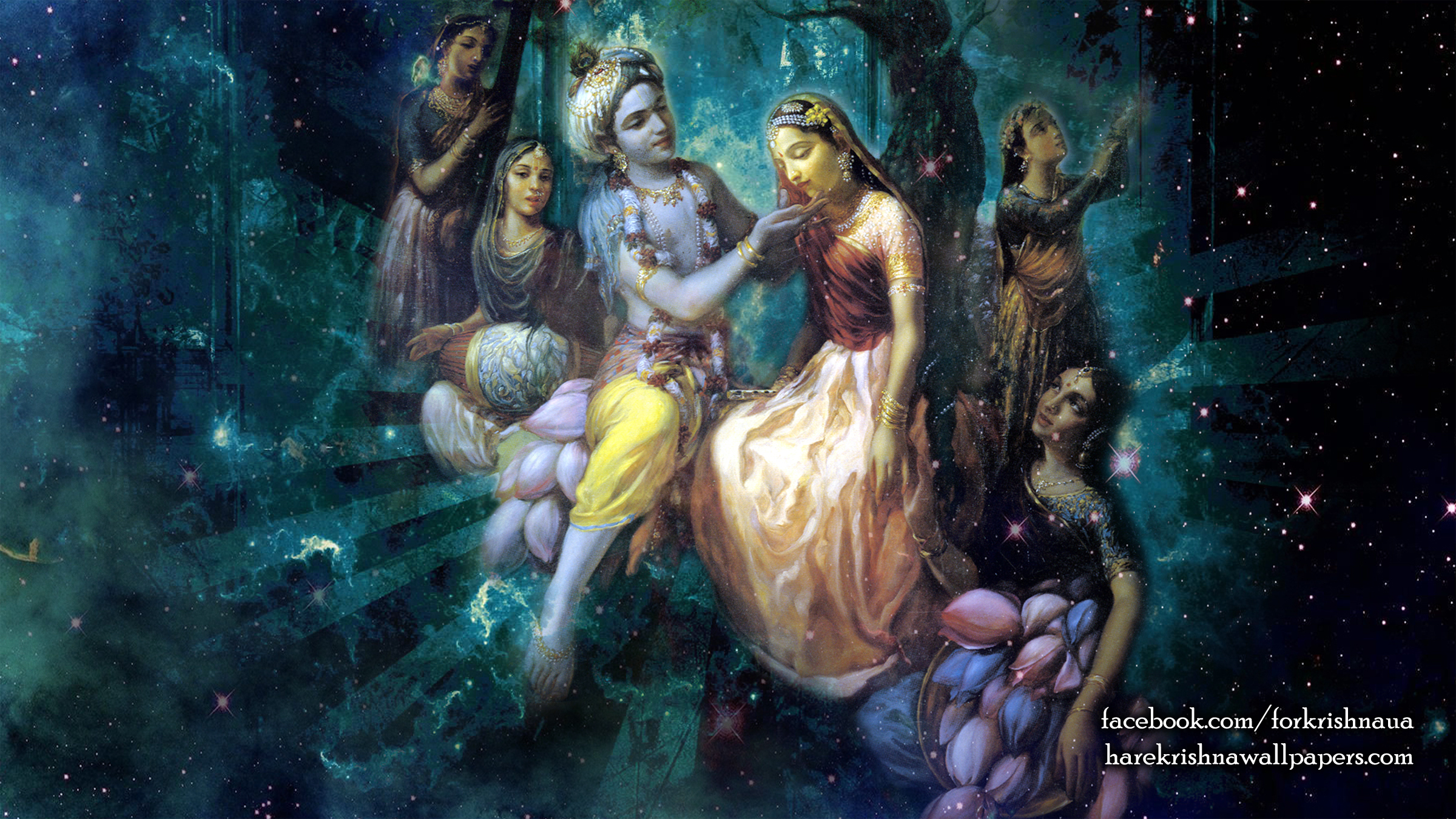 Radha Krishna Wallpaper (026) Size 2400x1350 Download
