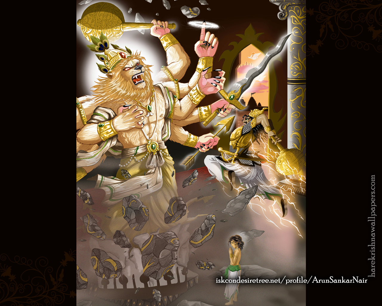 Sri Narasimha Deva Wallpaper (005) Size 1280x1024 Download