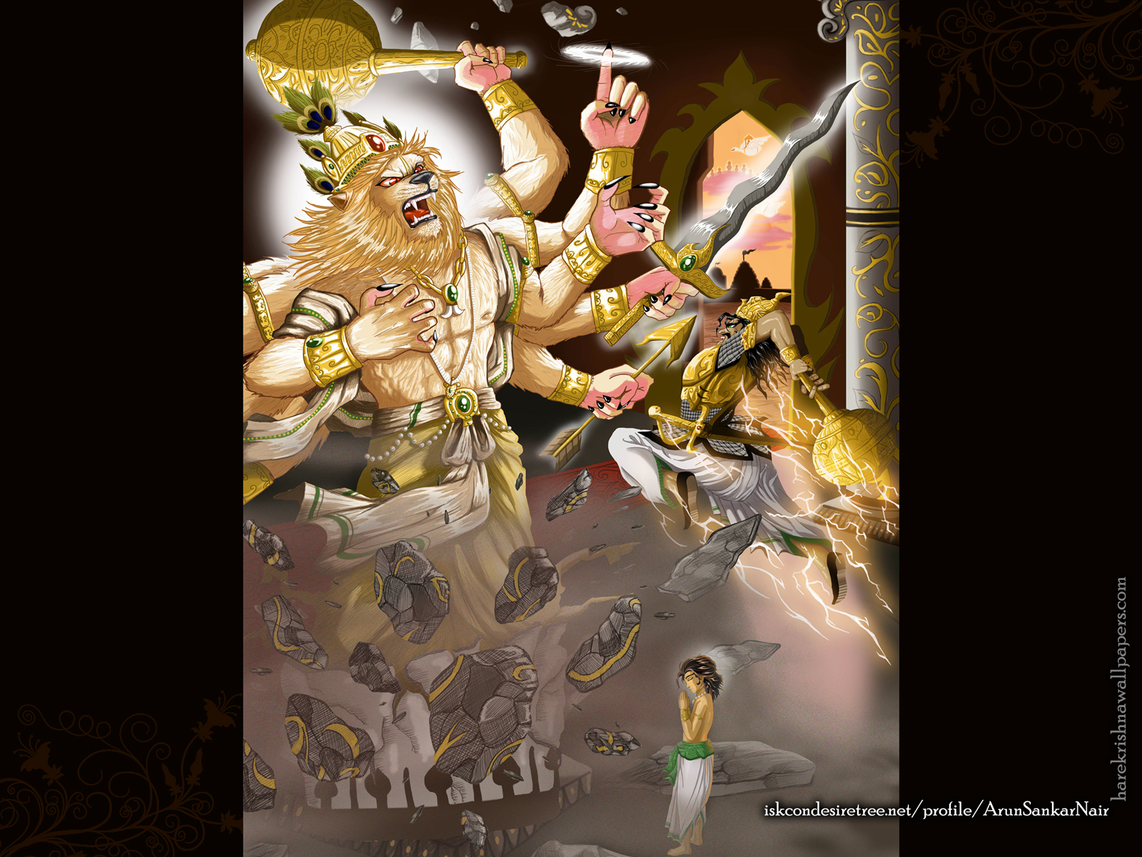 Sri Narasimha Deva Wallpaper (005) Size1600x1200 Download