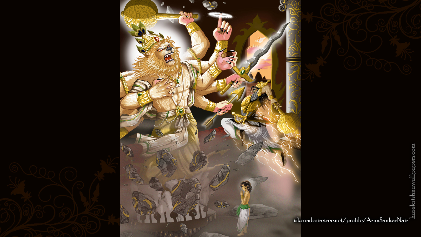 Sri Narasimha Deva Wallpaper (005) Size 1600x900 Download