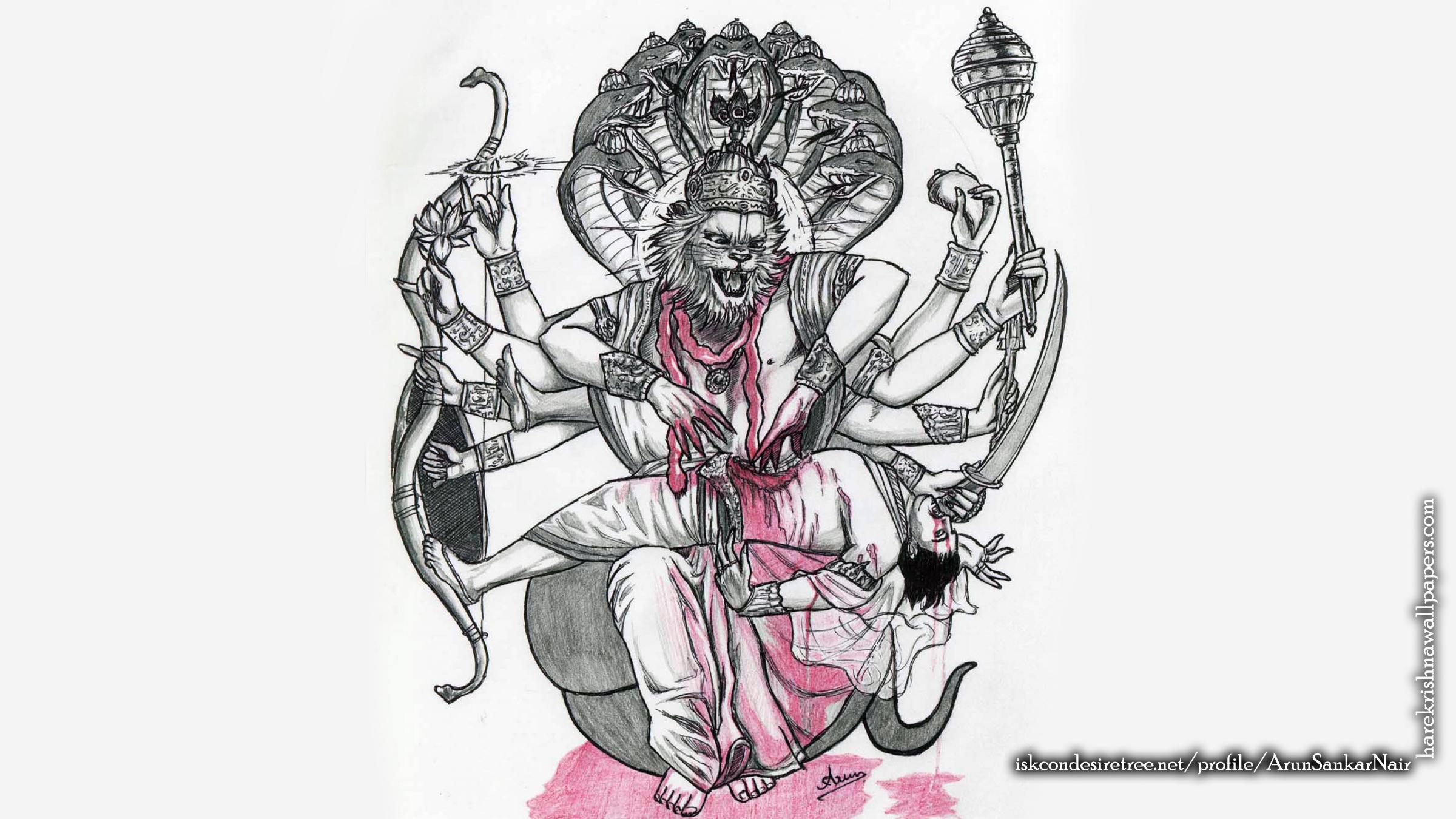 Sri Narasimha Deva Wallpaper (006) Size 2400x1350 Download