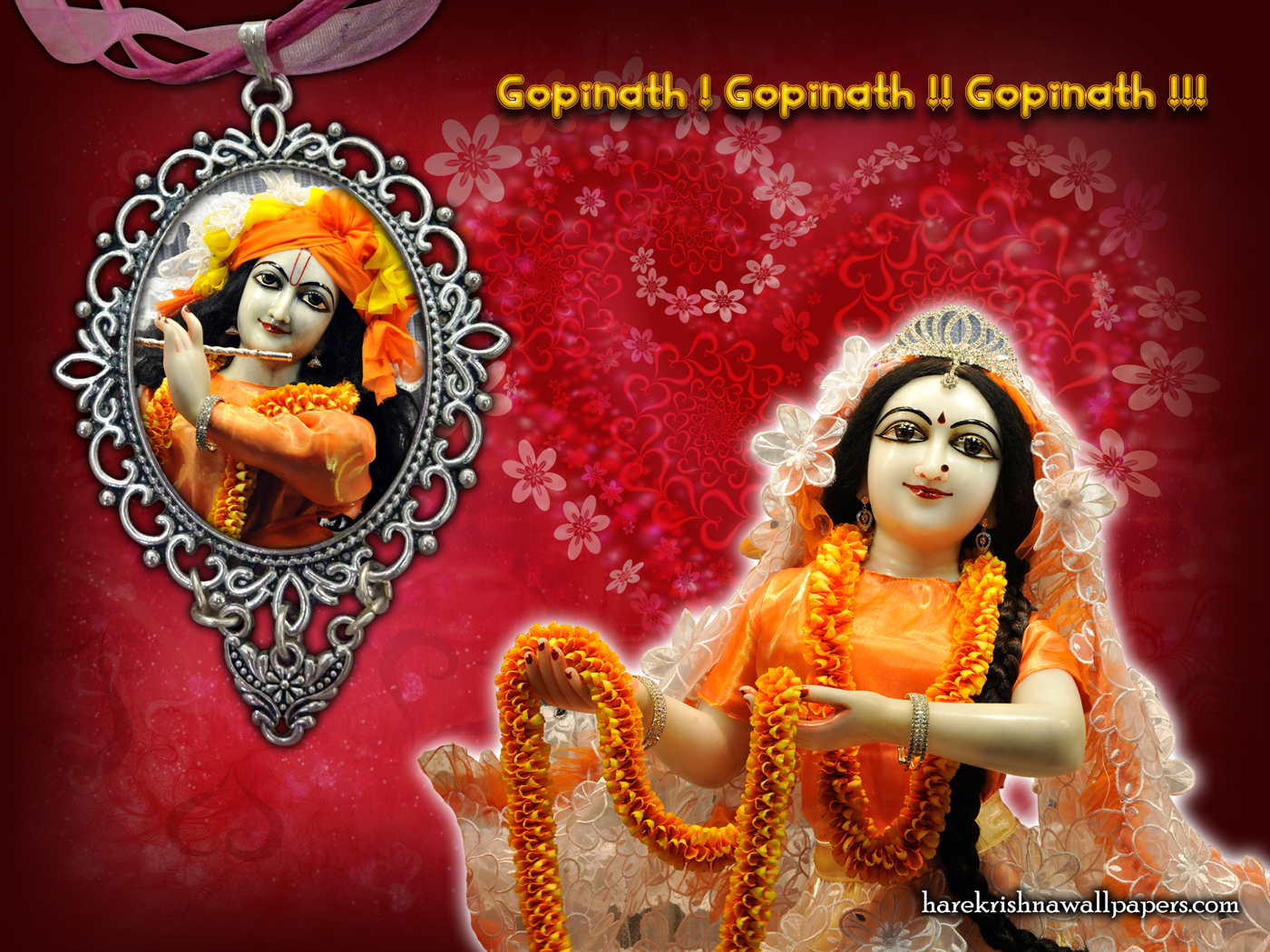 Sri Sri Radha Gopinath Wallpaper (001) Size 1400x1050 Download