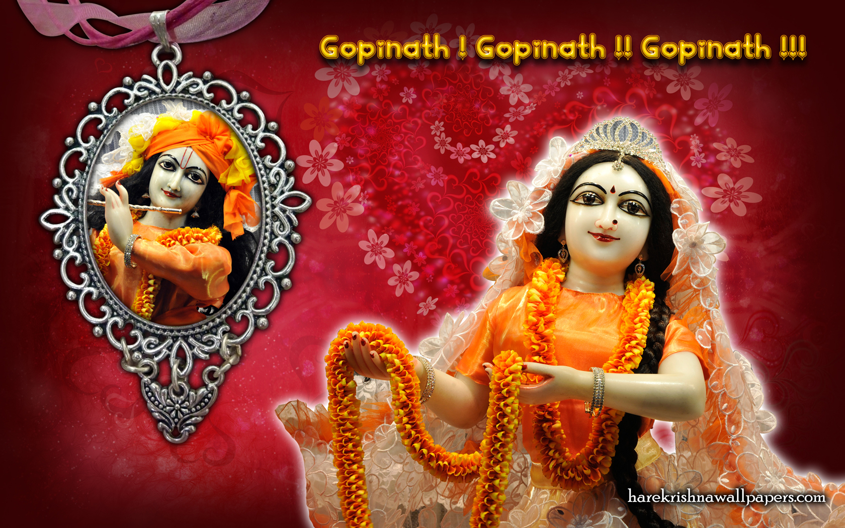Sri Sri Radha Gopinath Wallpaper (001) Size 1680x1050 Download