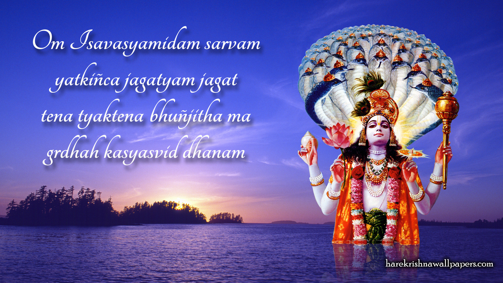 Sri Vishnu Wallpaper (001) Size 1600x900 Download