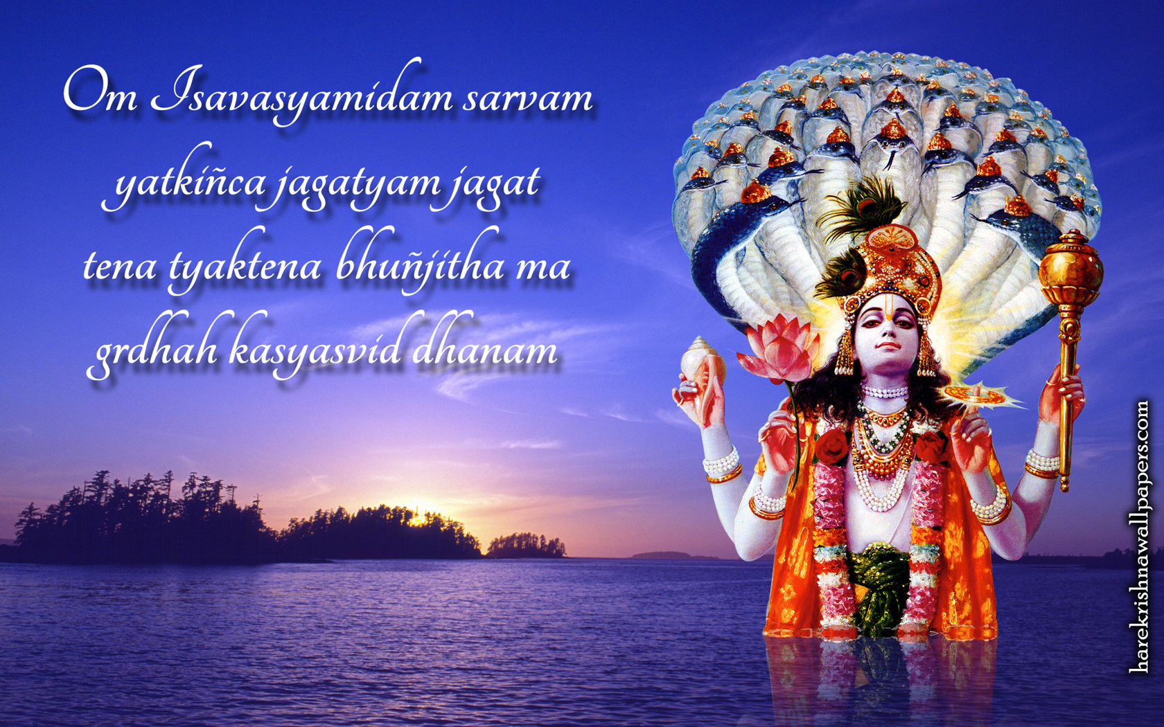Sri Vishnu Wallpaper (001) Size 1680x1050 Download