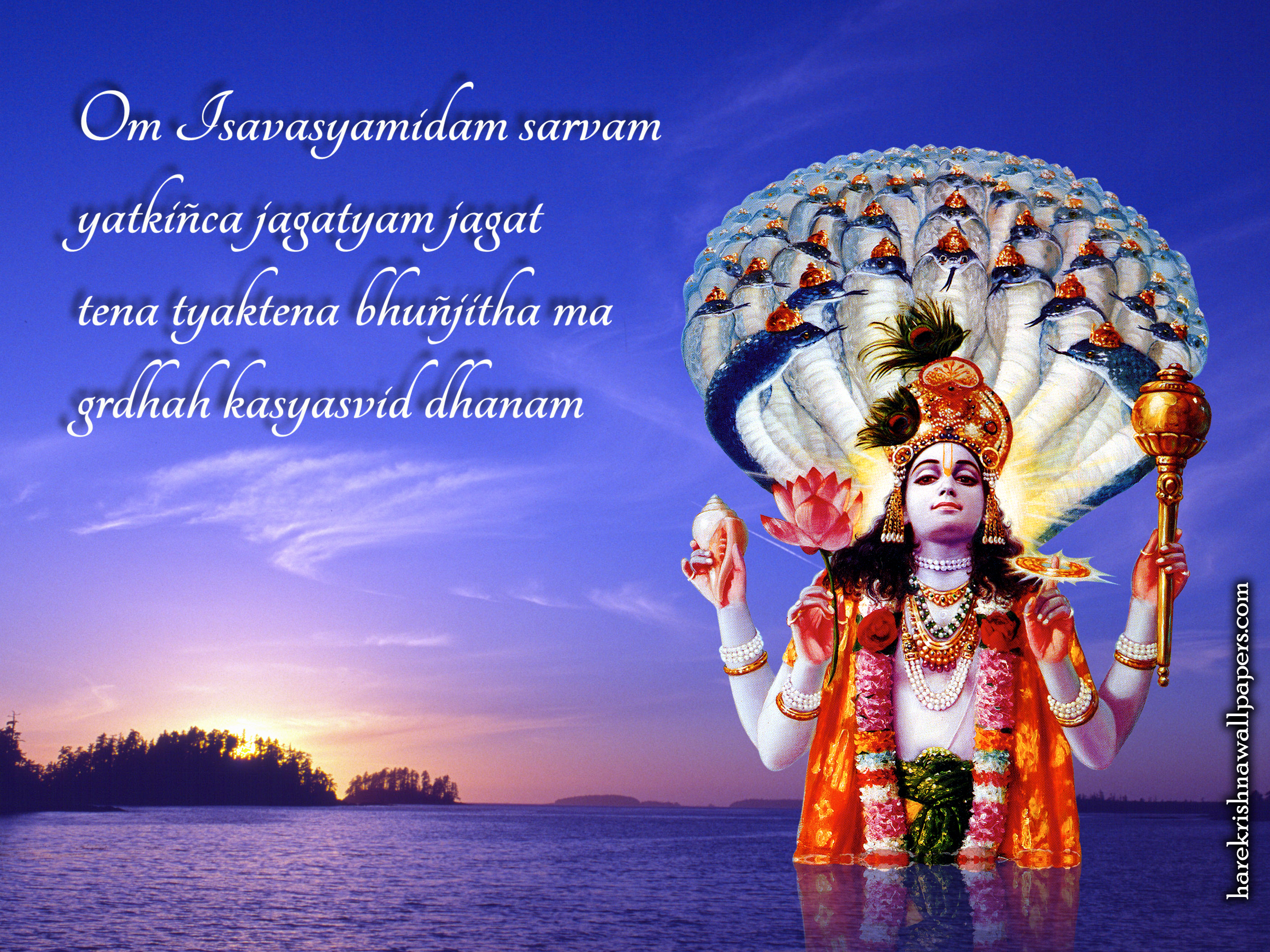 Sri Vishnu Wallpaper (001) Size 2400x1800 Download