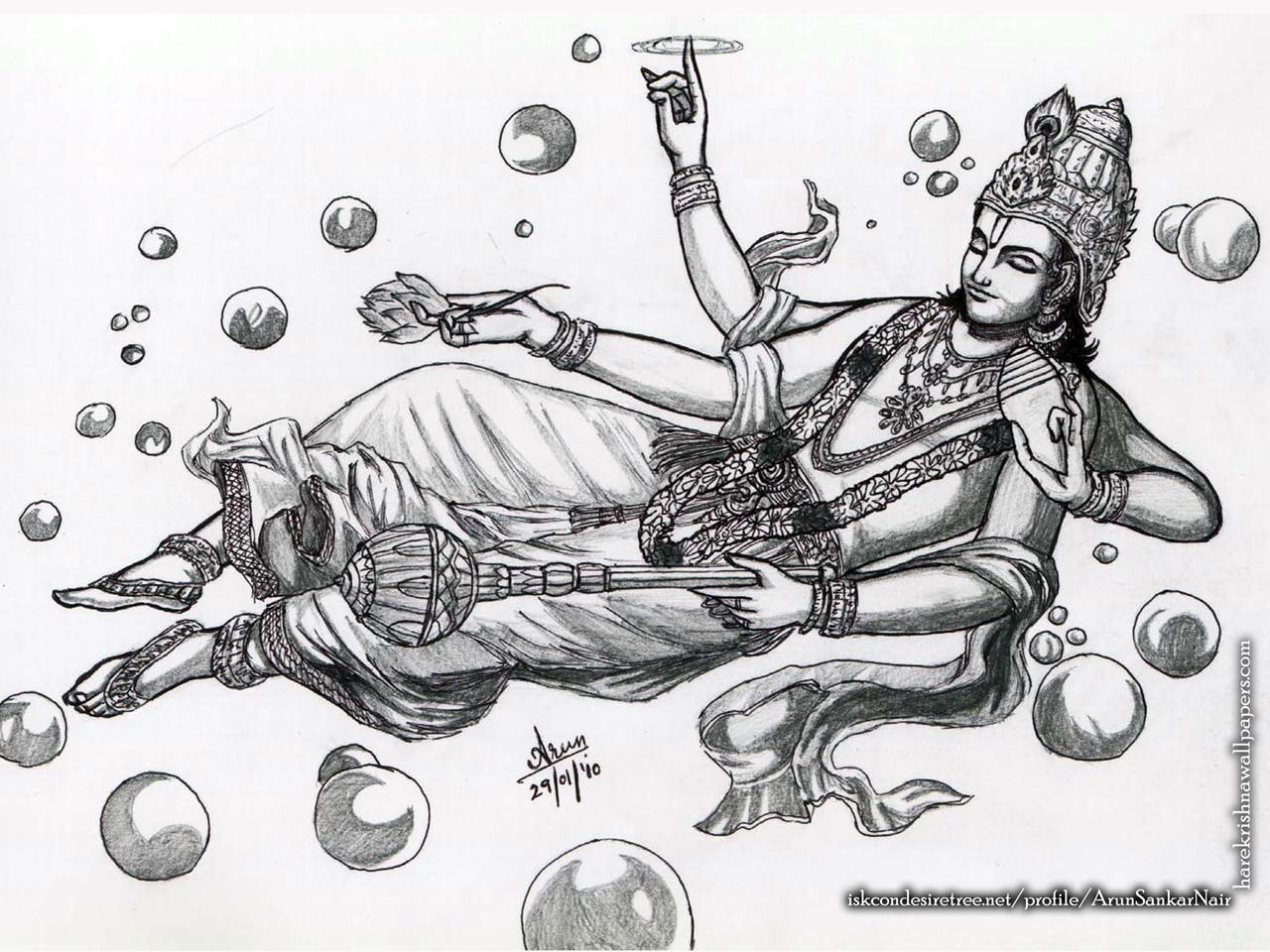 Sri Vishnu Wallpaper (003) Size 1280x960 Download