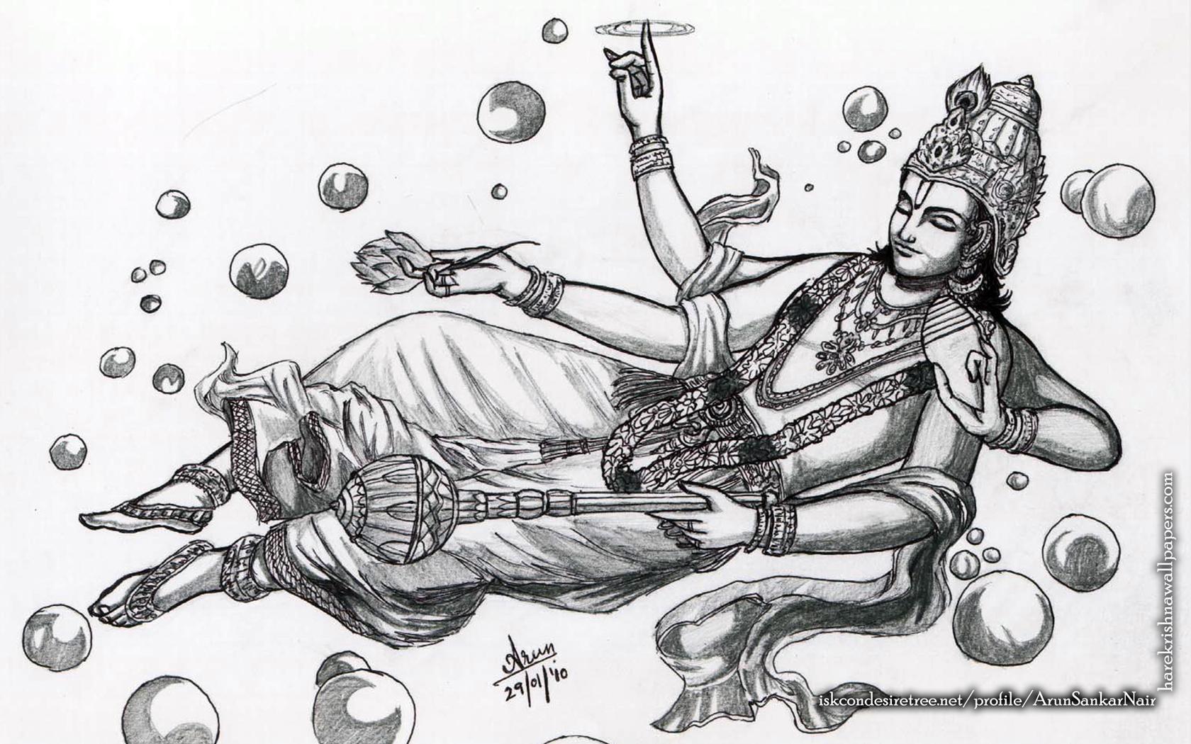 Sri Vishnu Wallpaper (003) Size 1680x1050 Download