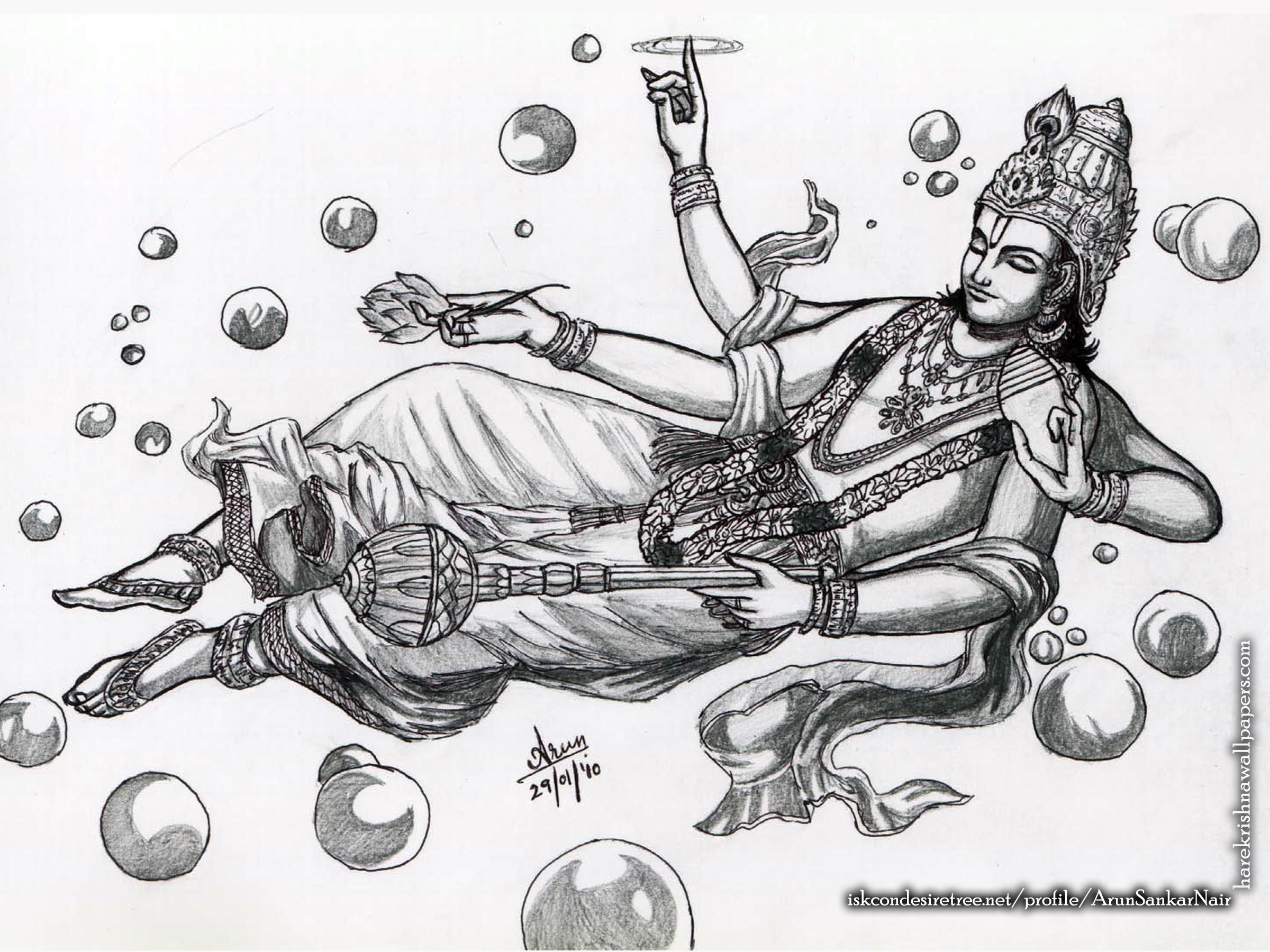Sri Vishnu Wallpaper (003) Size 2400x1800 Download