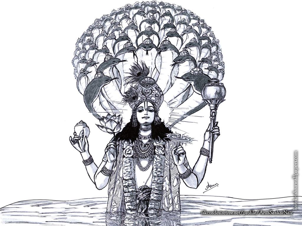 Sri Vishnu Wallpaper (004) Size 1024x768 Download