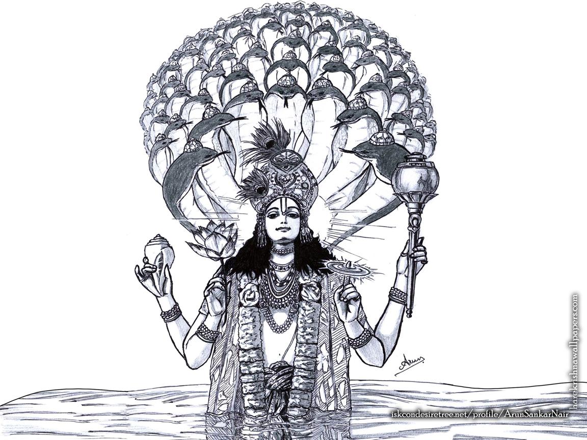 Sri Vishnu Wallpaper (004) Size 1152x864 Download