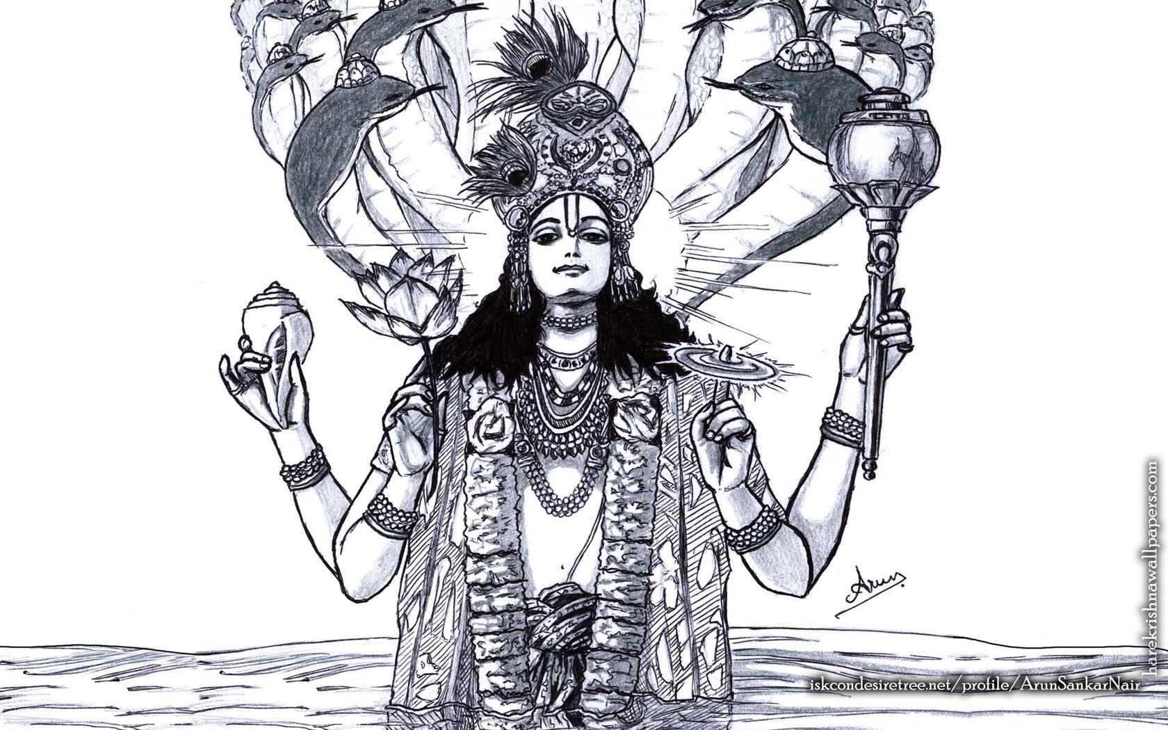 Sri Vishnu Wallpaper (004) Size 1680x1050 Download