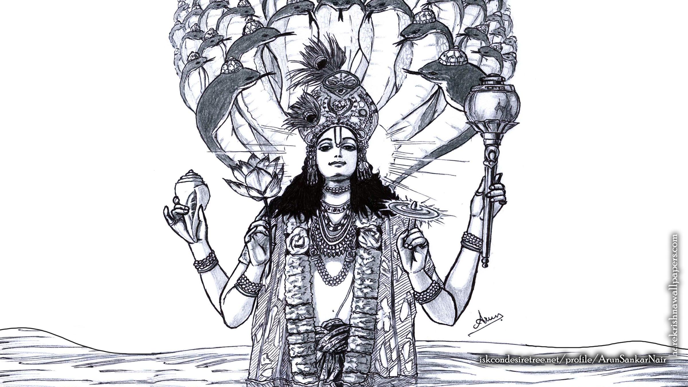 Sri Vishnu Wallpaper (004) Size 2400x1350 Download