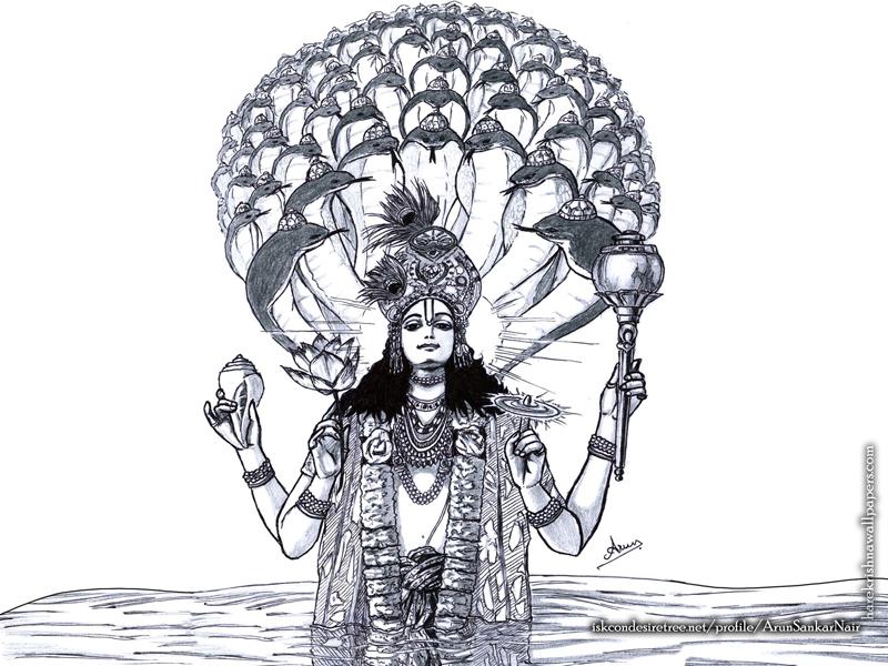 Sri Vishnu Wallpaper (004) Size 800x600 Download